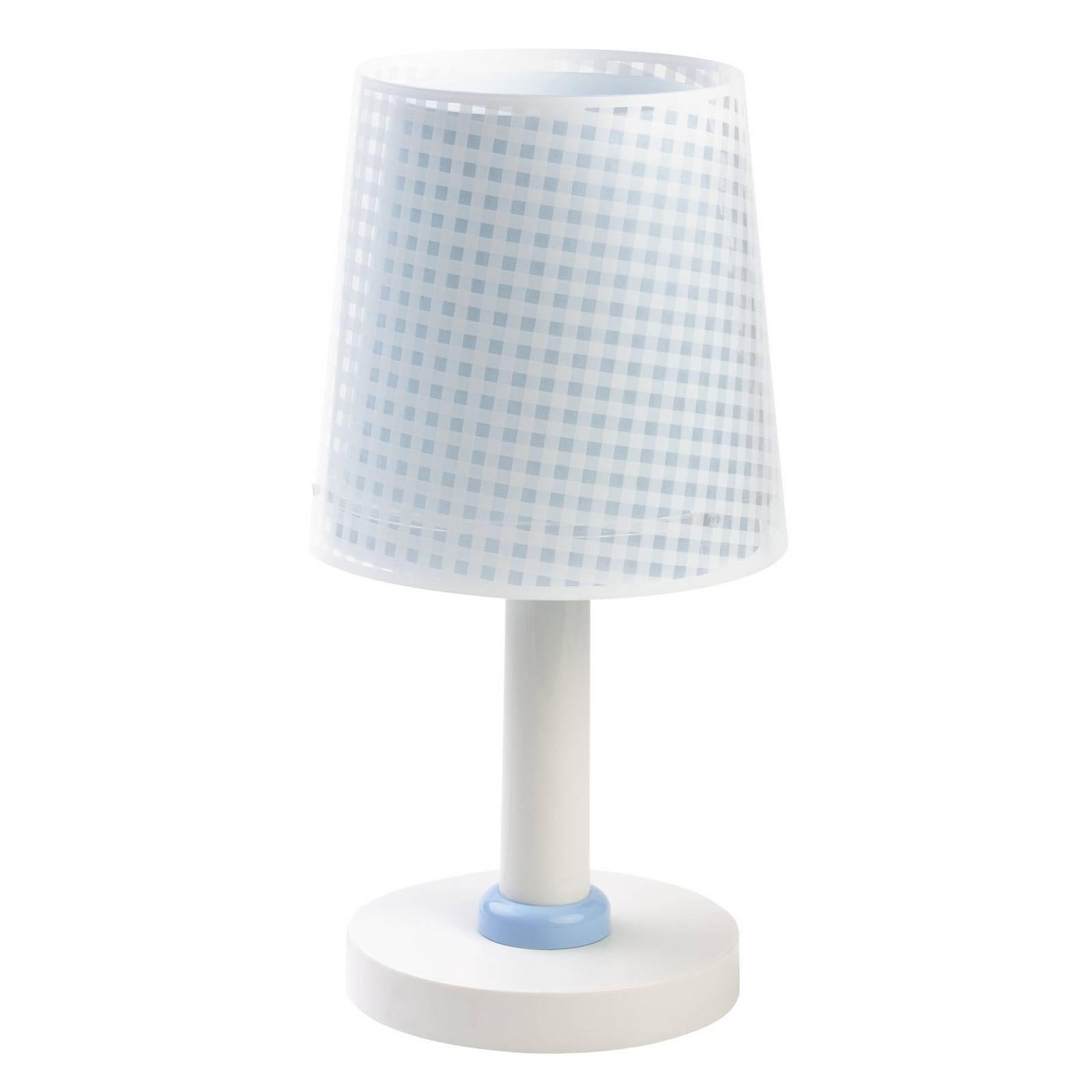 Lastenhuoneen pöytälamppu Vichy sininen