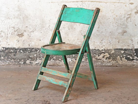 Vintage Green Wooden Chair Green