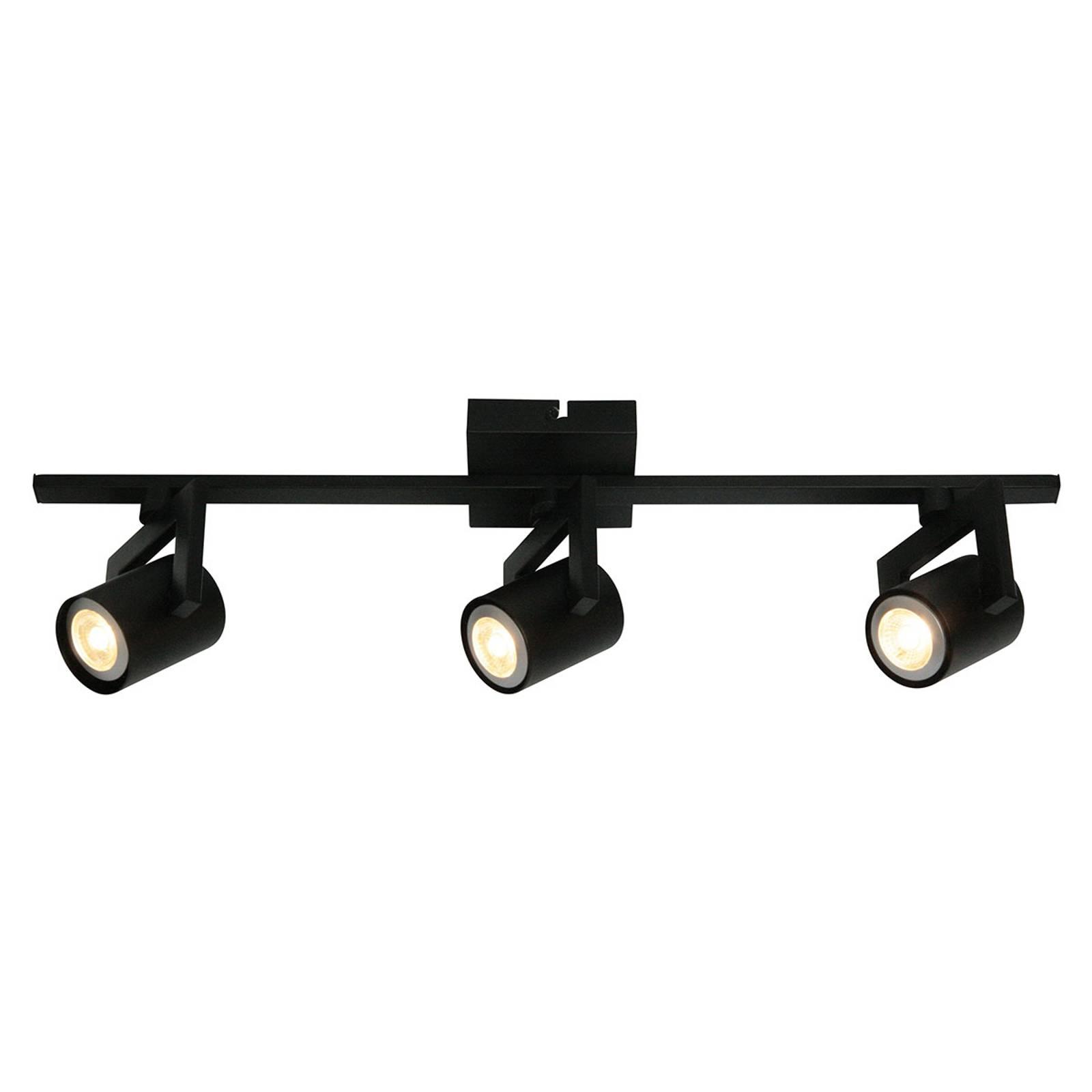 Moderni kattovalaisin ValvoLED musta, 3-lamppuinen