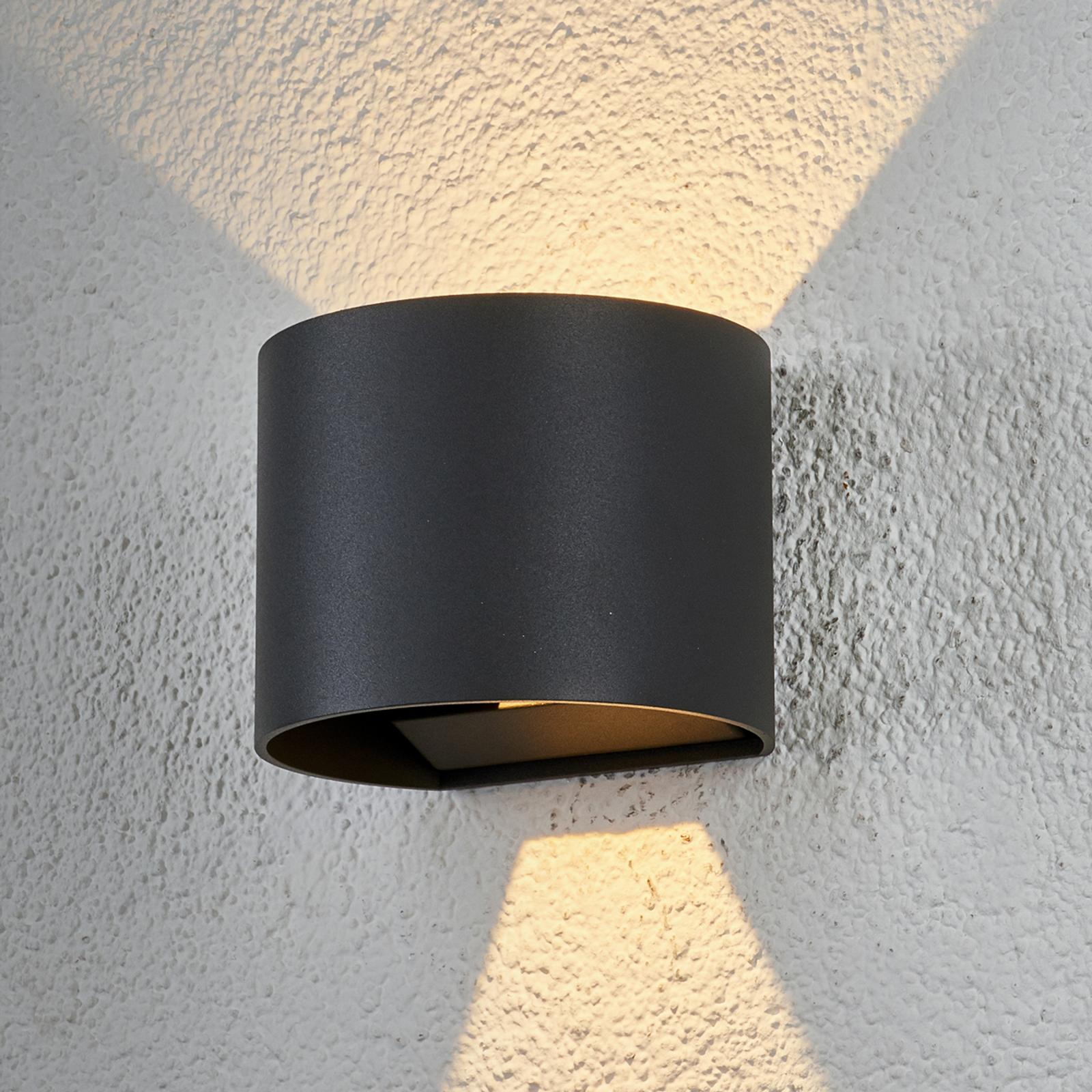 Puolikaaren muotoinen LED-ulkoseinävalaisin Ella