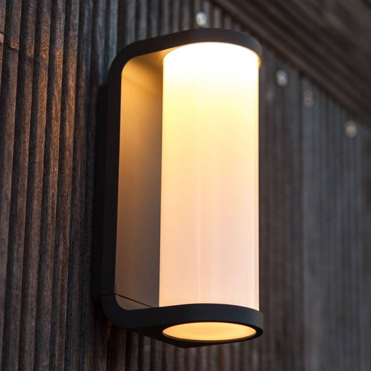 Utendørs LED-vegglampe Adalyn