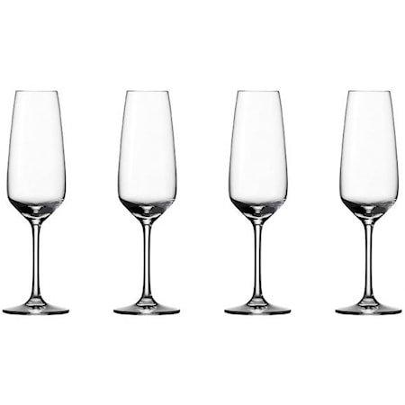 Voice Basic Champagneglass 4 stk.