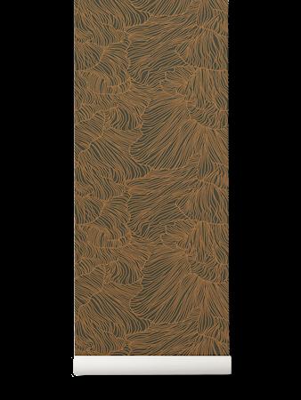 Coral Tapet Dark Green/Gold