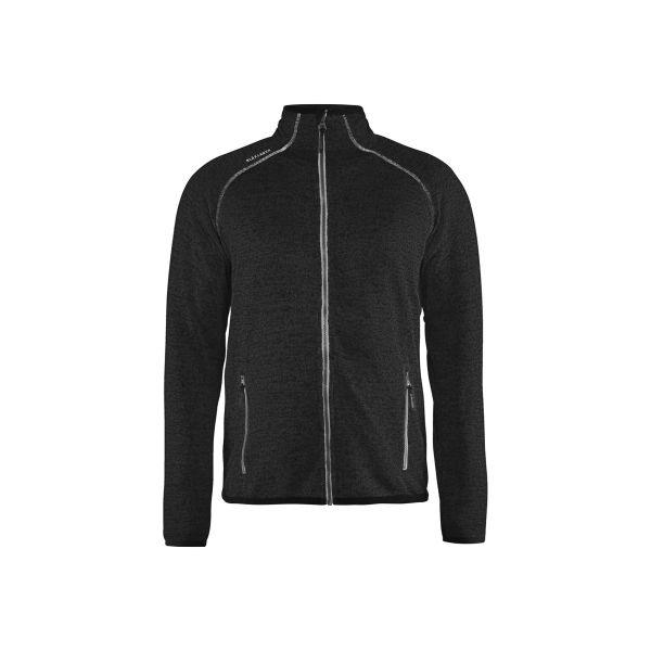 Blåkläder 494221179710M Jacka dam, gråmelerad/svart, stickad Stl XL