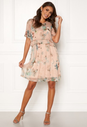 Happy Holly Teodora occasion dress Dusty pink / Patterned 32/34