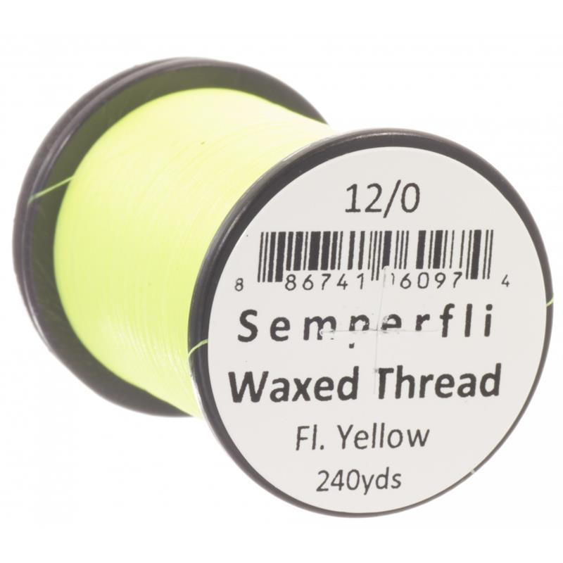 Semperfli Classic Waxed Thread Fluoro Yellow 12/0