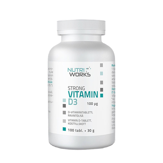Strong vitamin D3, 100mcg, 100 tabl