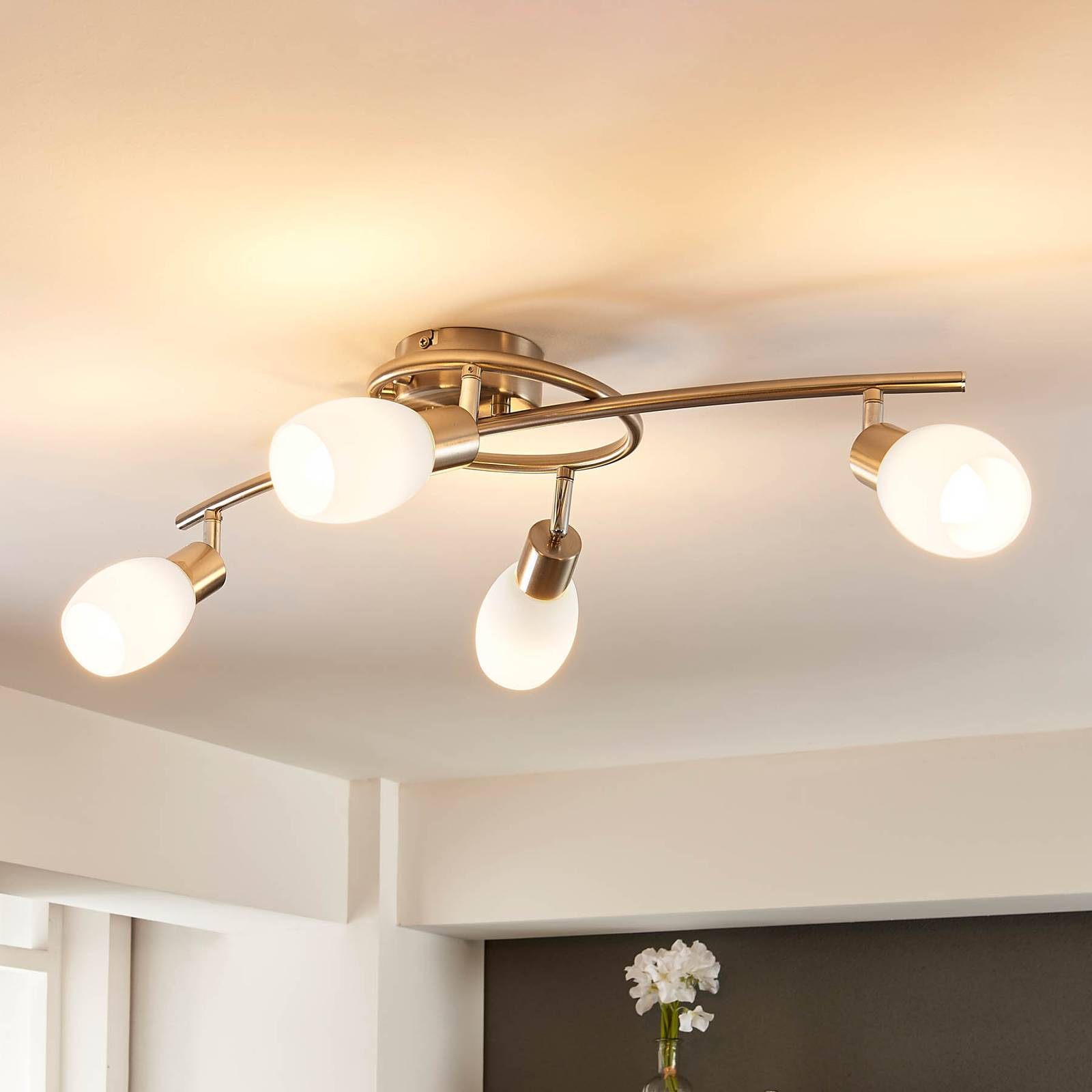 Katkaisijalla himmennettävä Arda-LED-kattolamppu