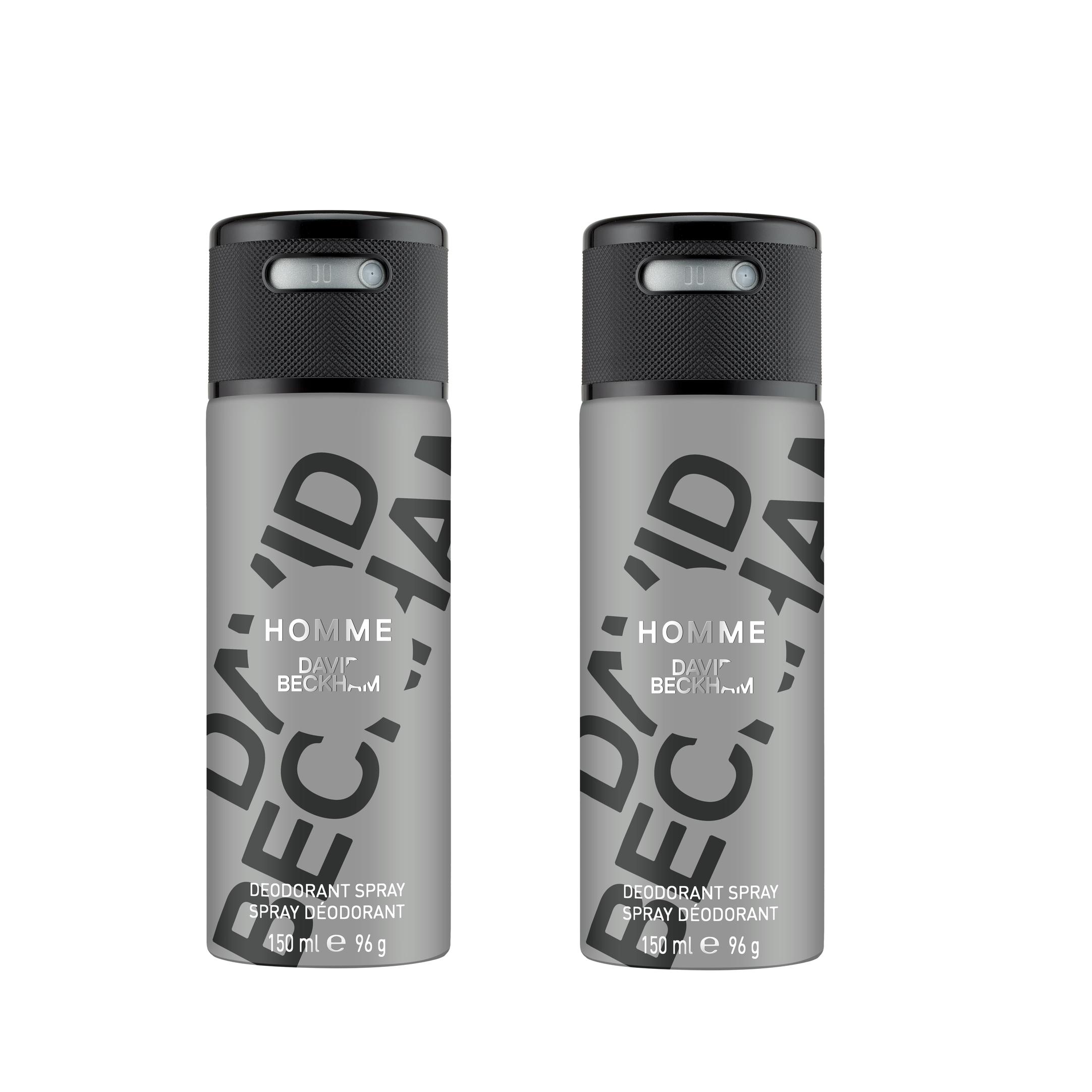 David Beckham - 2x Homme Deodorant Spray 150 ml