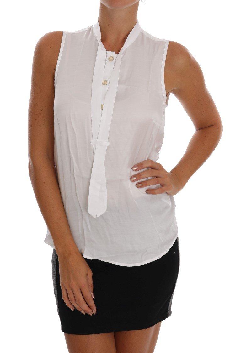 Versace Jeans Women's Sleeveless Top White TSH1469 - IT42 M