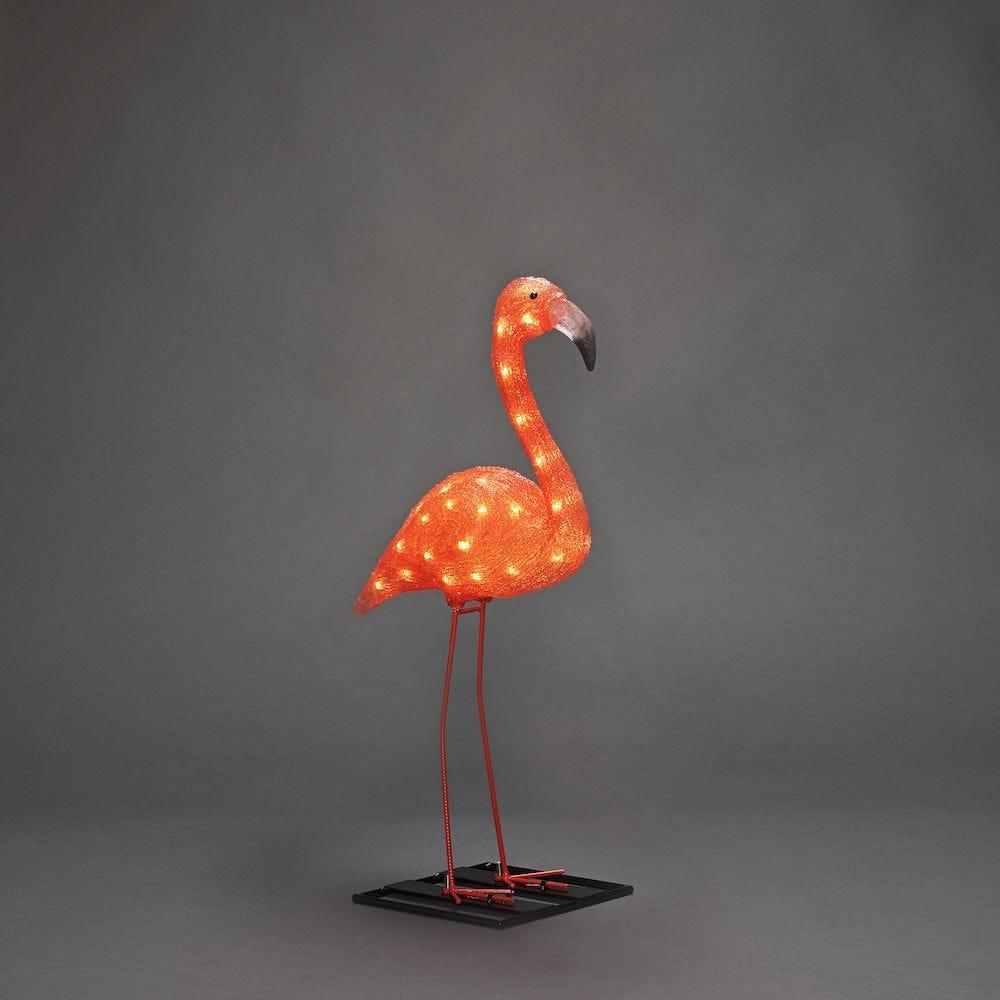 Konstsmide Dekorasjon Flamingo Akryl 48 Amber LED 70 cm 24V / IP44