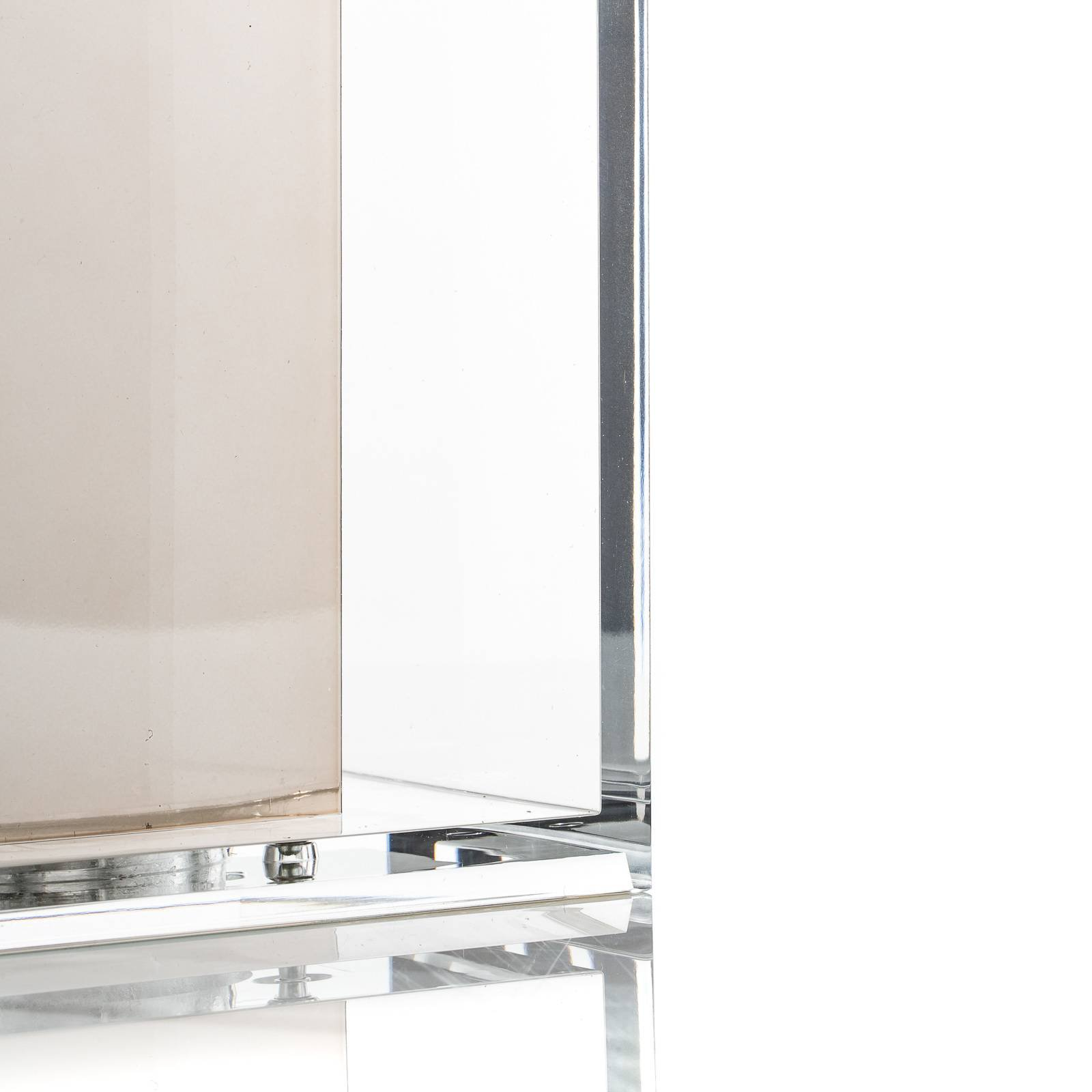Designer-bordlampe Tatì med plisséskjermen
