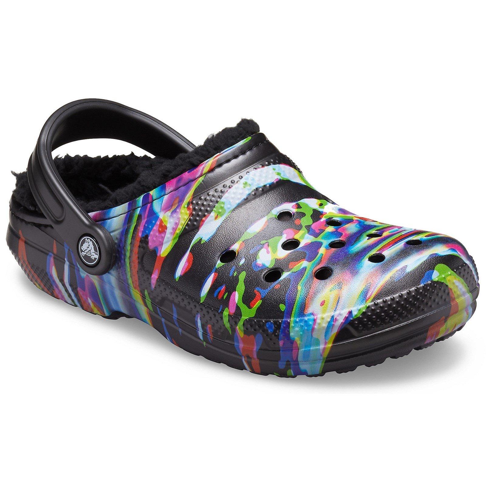 Crocs Women's Classic Lined Clog Shoe Various Colours 33508-57310 - Multi/Black 4