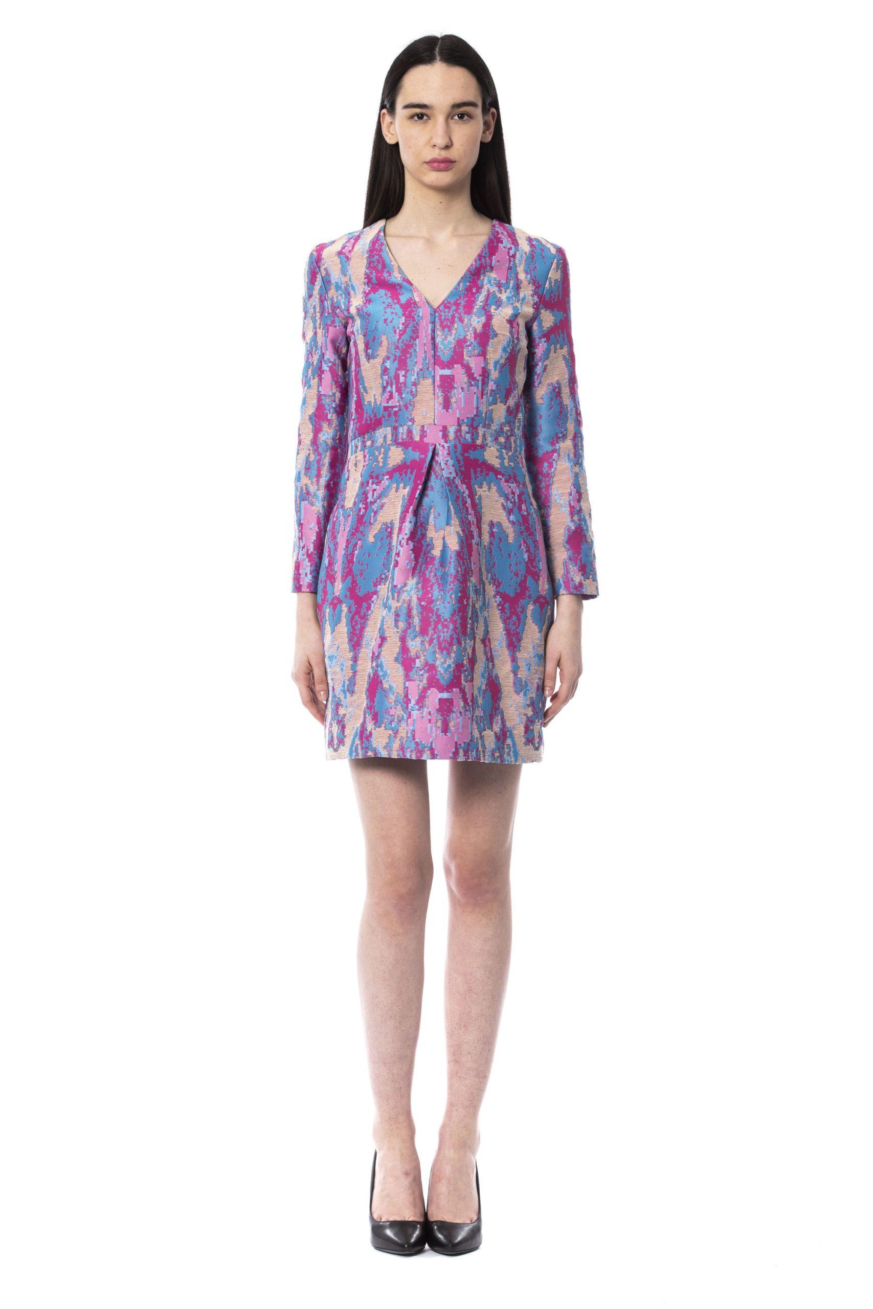 Byblos Women's Celeste Long Sleeve Dress Multicolour BY997106 - IT42 | S