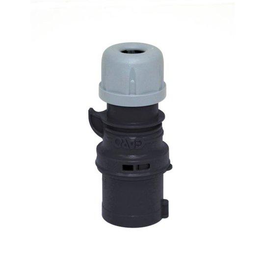 Garo P 332-7 Q Pistotulppa IP44, 4-napainen, 32A, Quick Musta, 7 h