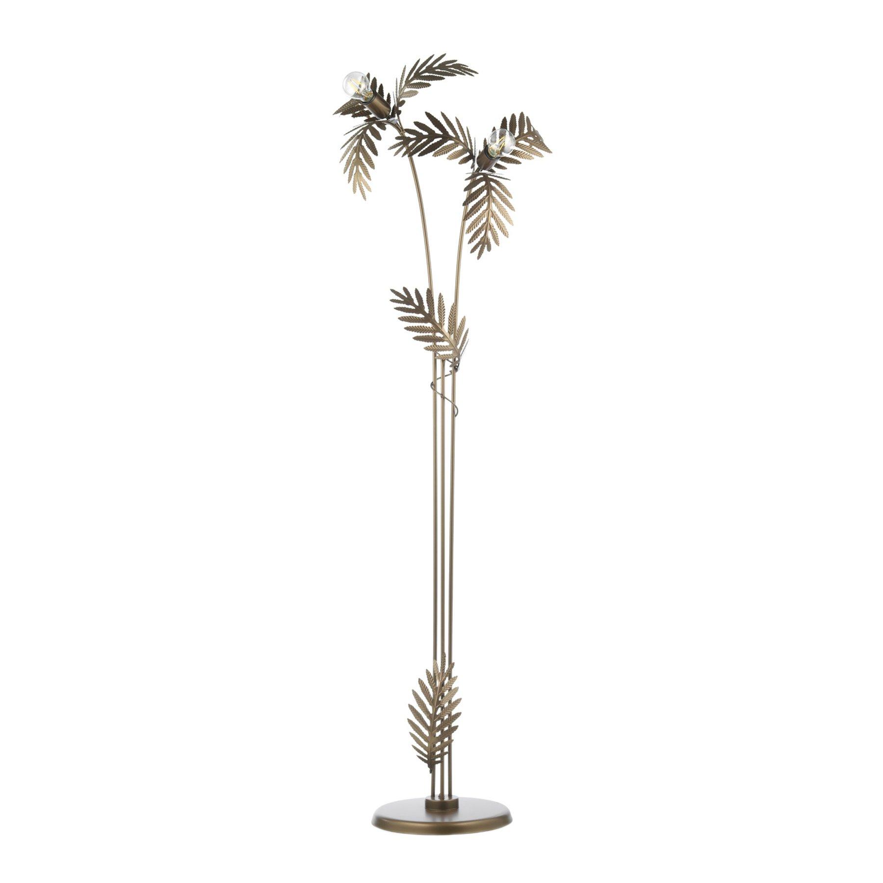 Gulvlampe Dubai i bladstil, bronse