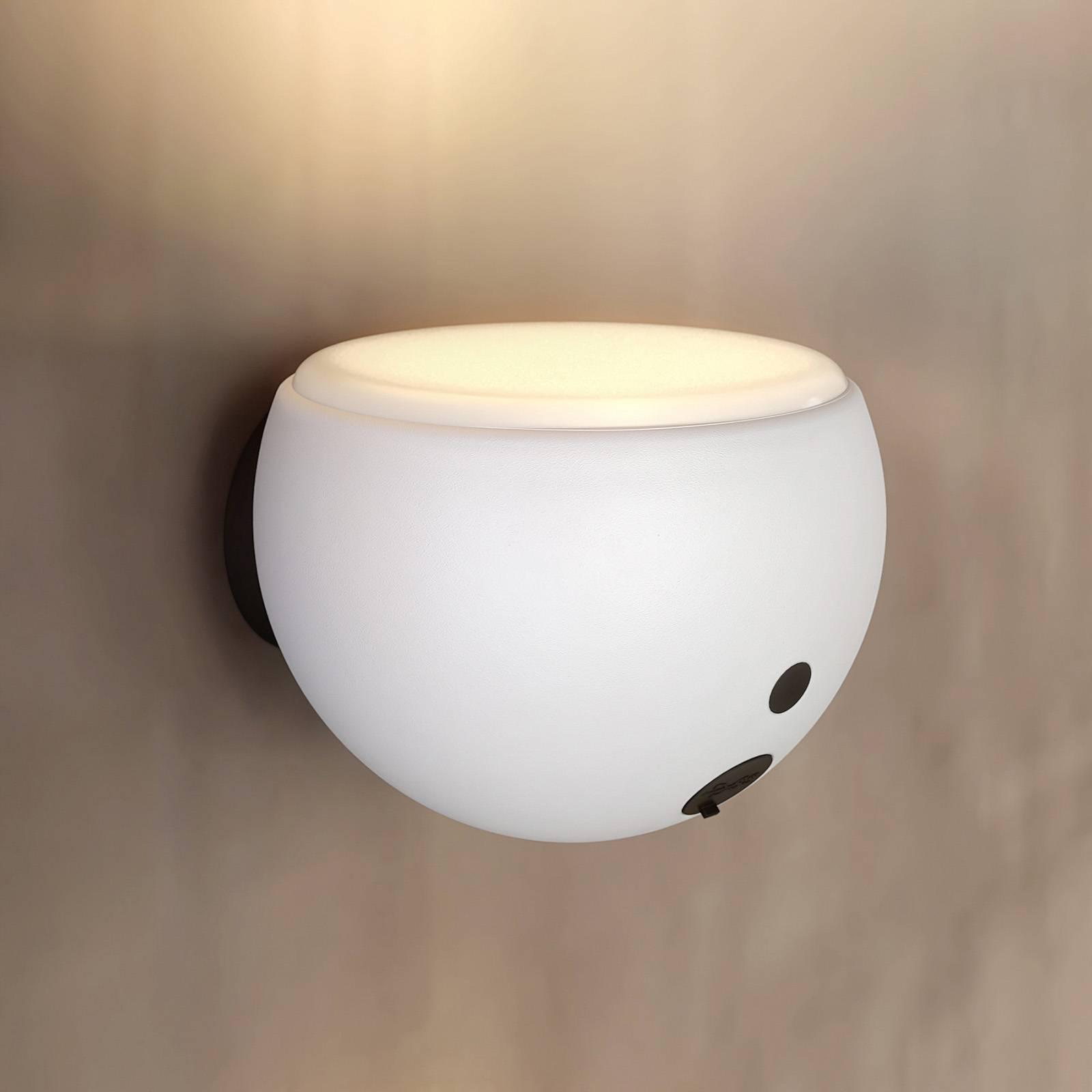 Arcchio Davir -LED-seinävalaisin, akku, valkoinen