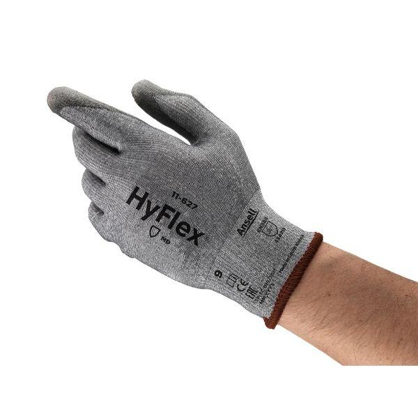 Ansell HyFlex 11-627 Hanske Skjærebeskyttelse, PU, Dyneema/nylon Str. 8