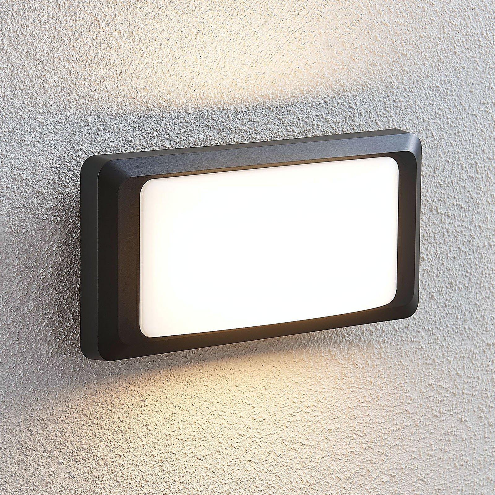 Utendørs LED-vegglampe Iskia uten stripe
