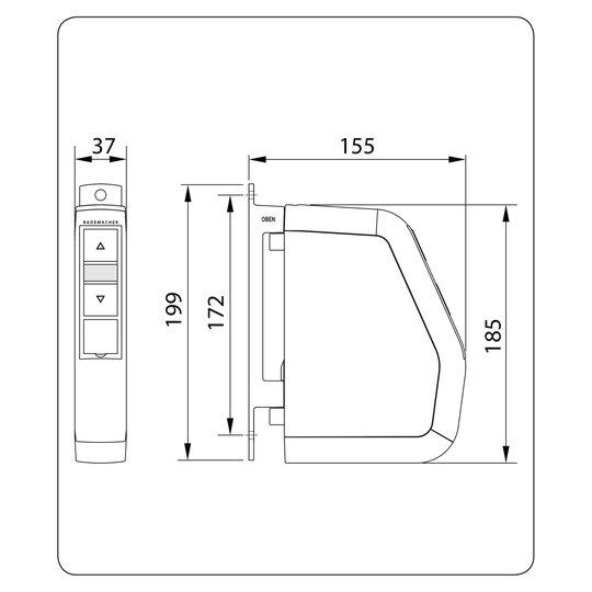 Rademacher RolloTron Comfort -kääntökelauslaite