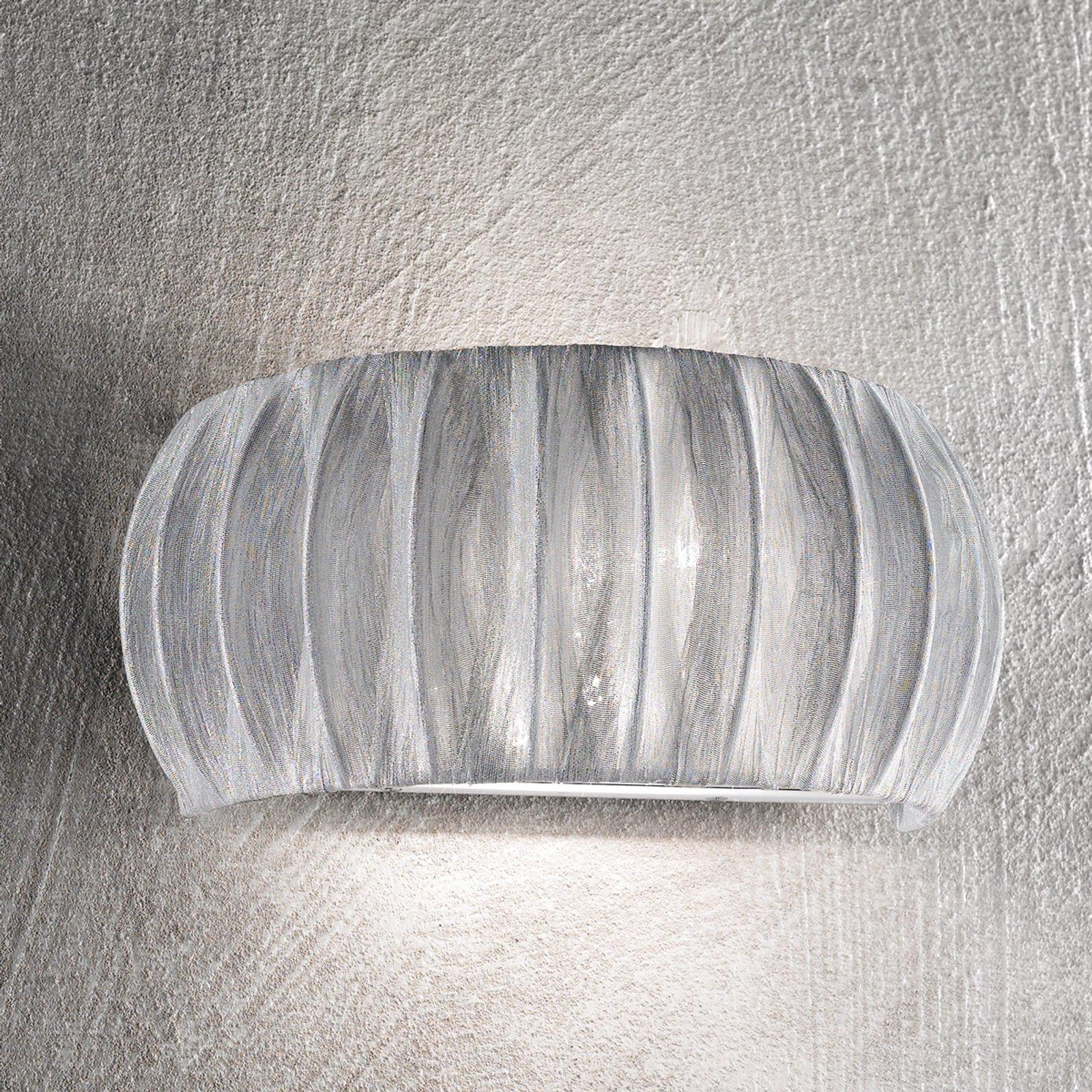 Vegglampe Amaru med tekstilskjerm 32 cm