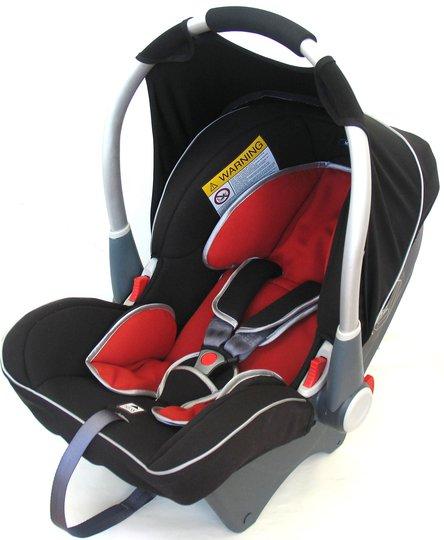 Klippan Dinofix Babybilstol, Svart/Rød