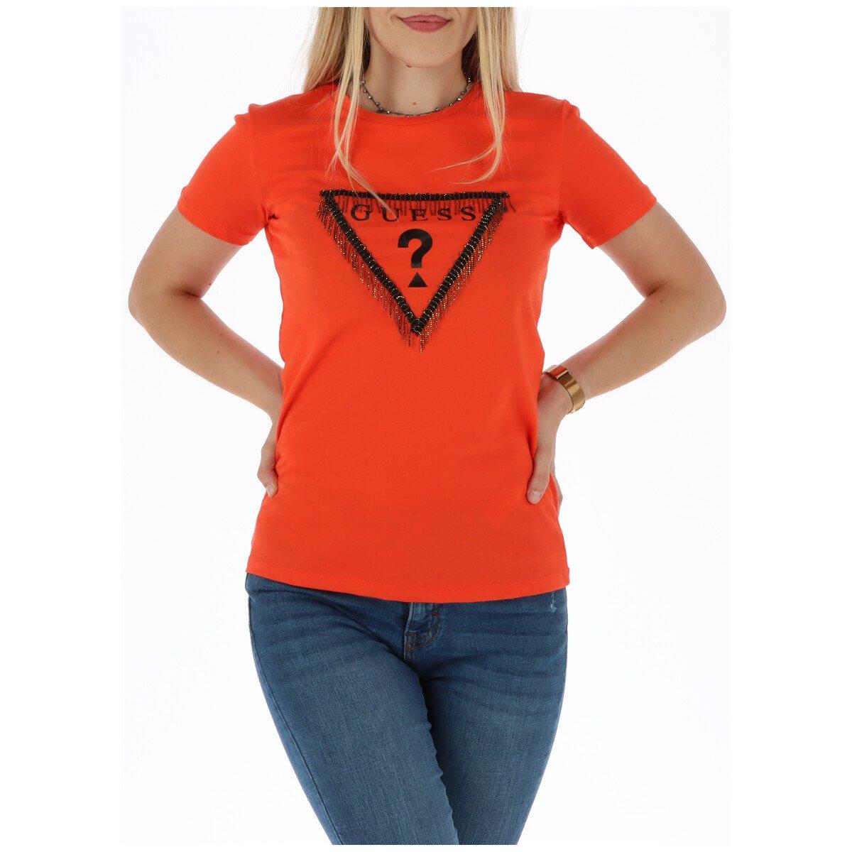 Guess Women's T-Shirt Various Colours 301091 - coral XS