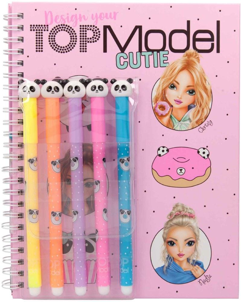 Top Model - Colouring Book w/Felt Pens - Candy Cake (48809)