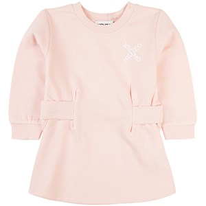 Kenzo Criss Cross Logo Mjukis-klänning Rosa 2 år