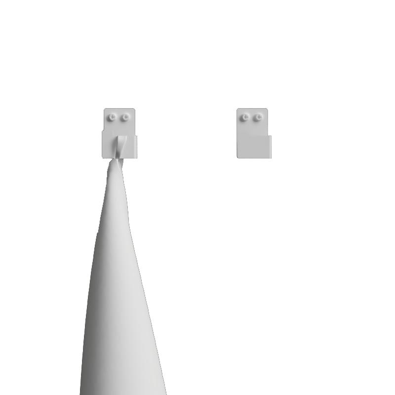 Nichba - Bath Hooks 2 pcs - White (L100103W)