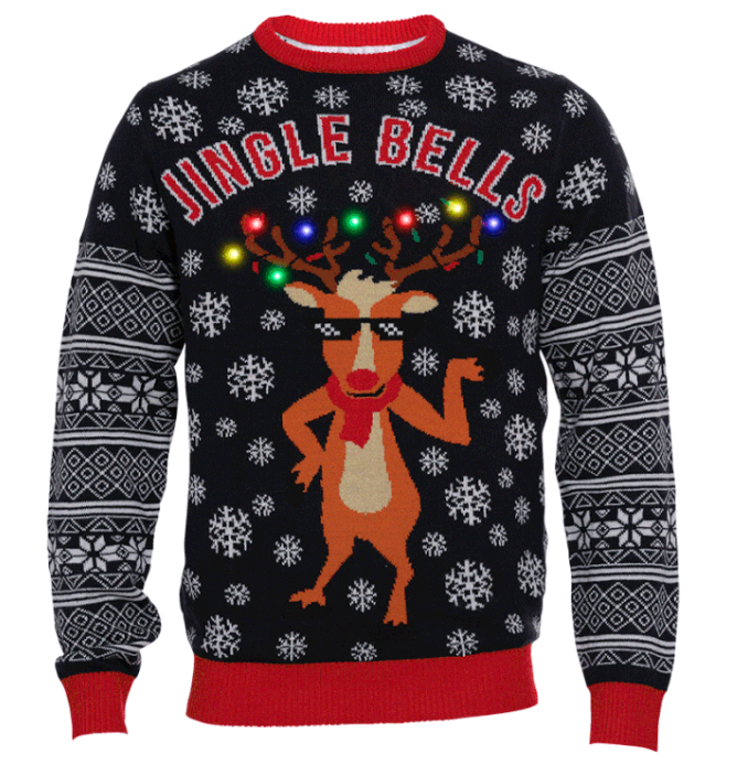 Jingle Bells LED Christmas Sweater - L