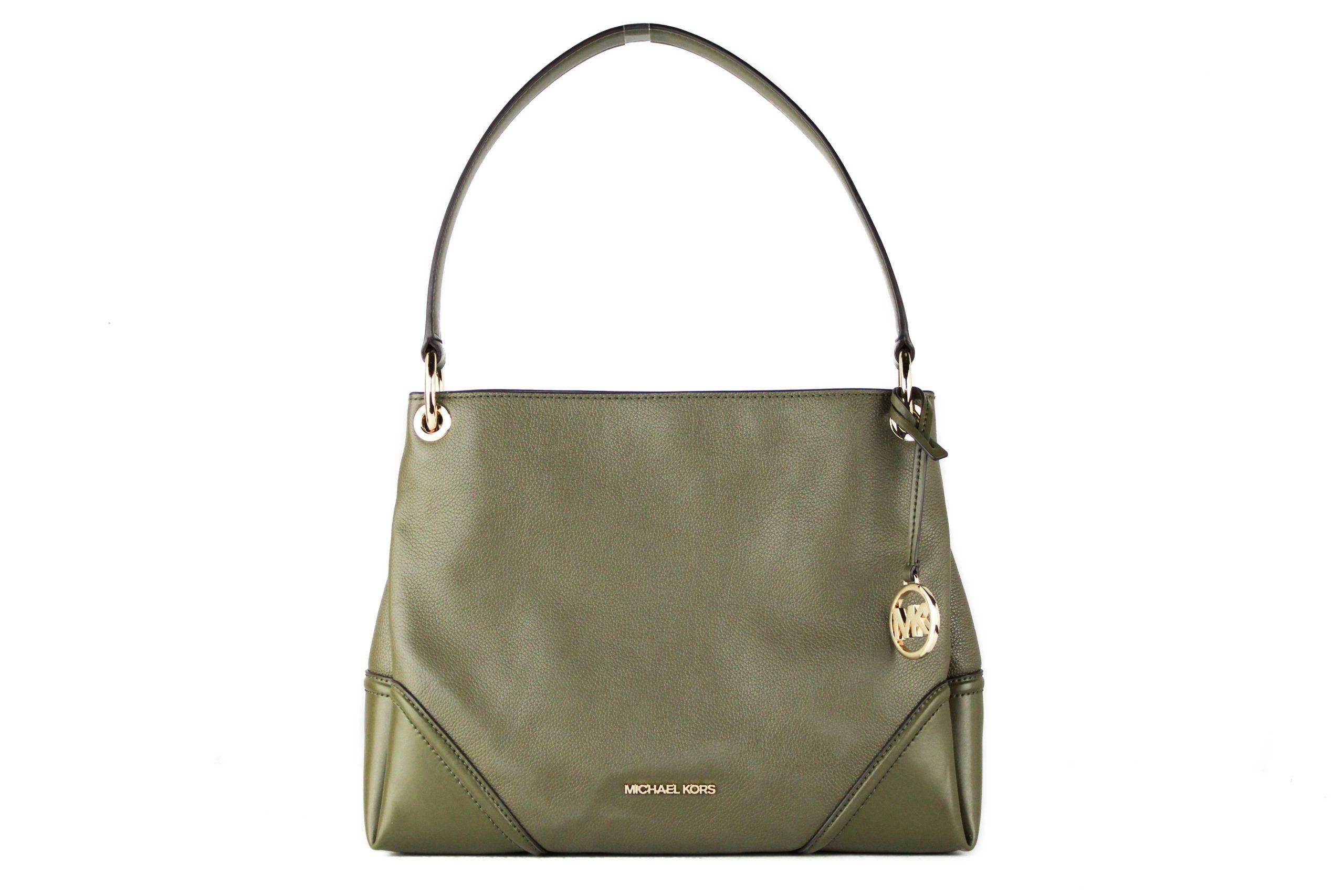 Michael Kors Women's Nicole Leather Shoulder Bag Green 40367