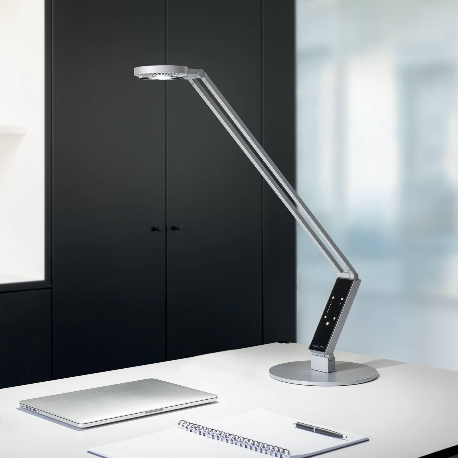 Luctra LED-bordlampe TableProRadial fot alu