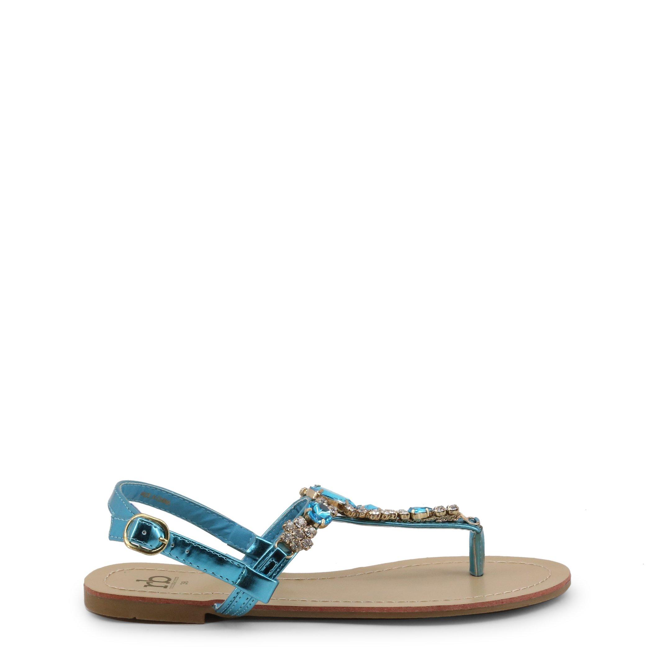 Roccobarocco Women's Sandal Black RBSC1BP02 - blue EU 38