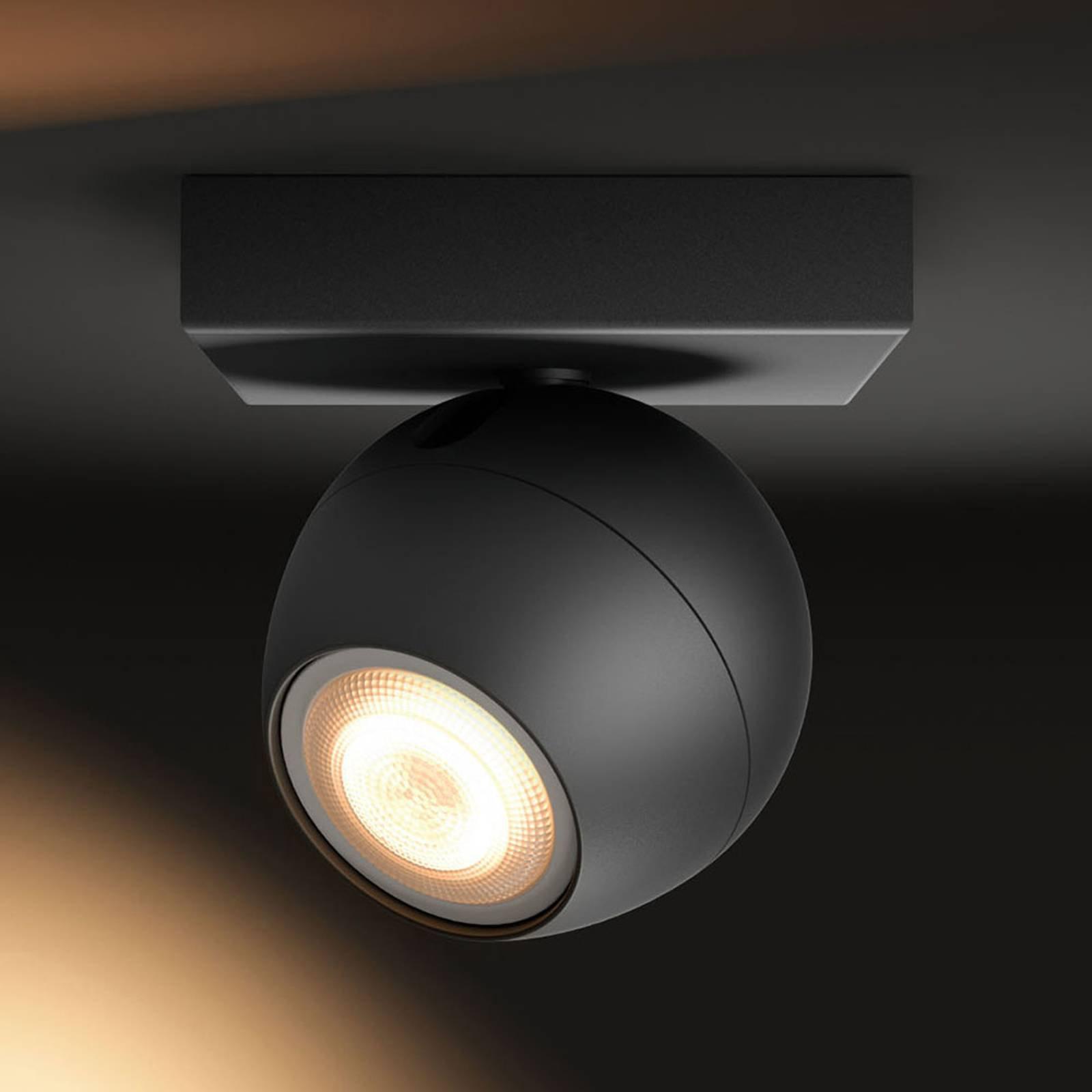 Philips Hue-Buckram LED-spot svart dimmebryter