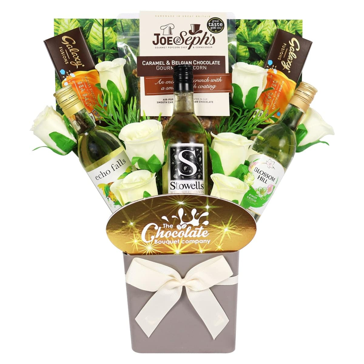 The White Wine Lovers & Chocolates Bouquet