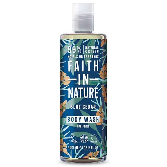 Faith in Nature Blue Cedar Body Wash, 400 ml