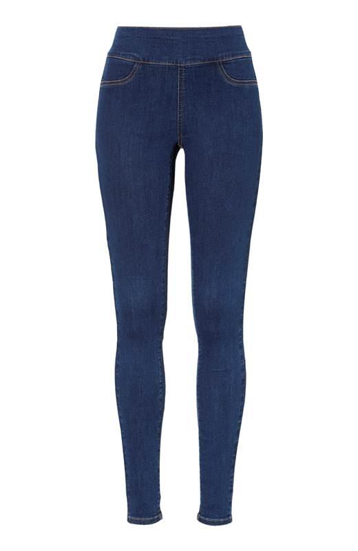 Happy Holly Superstretchiga jeans med hög midja Lyra Mellan denim