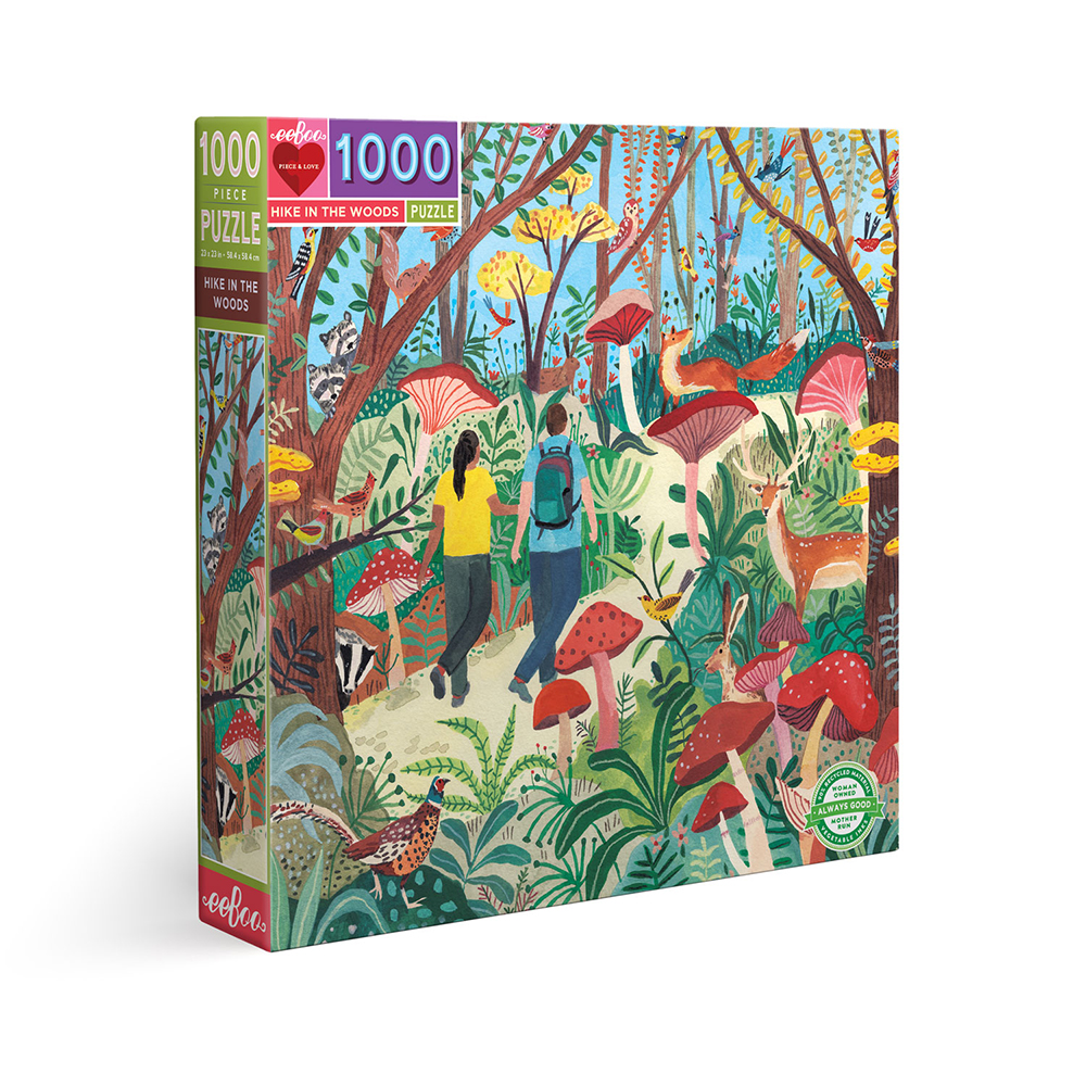 eeBoo - Puzzle 1000 pcs - Hike in the Woods (EPZTHKW)