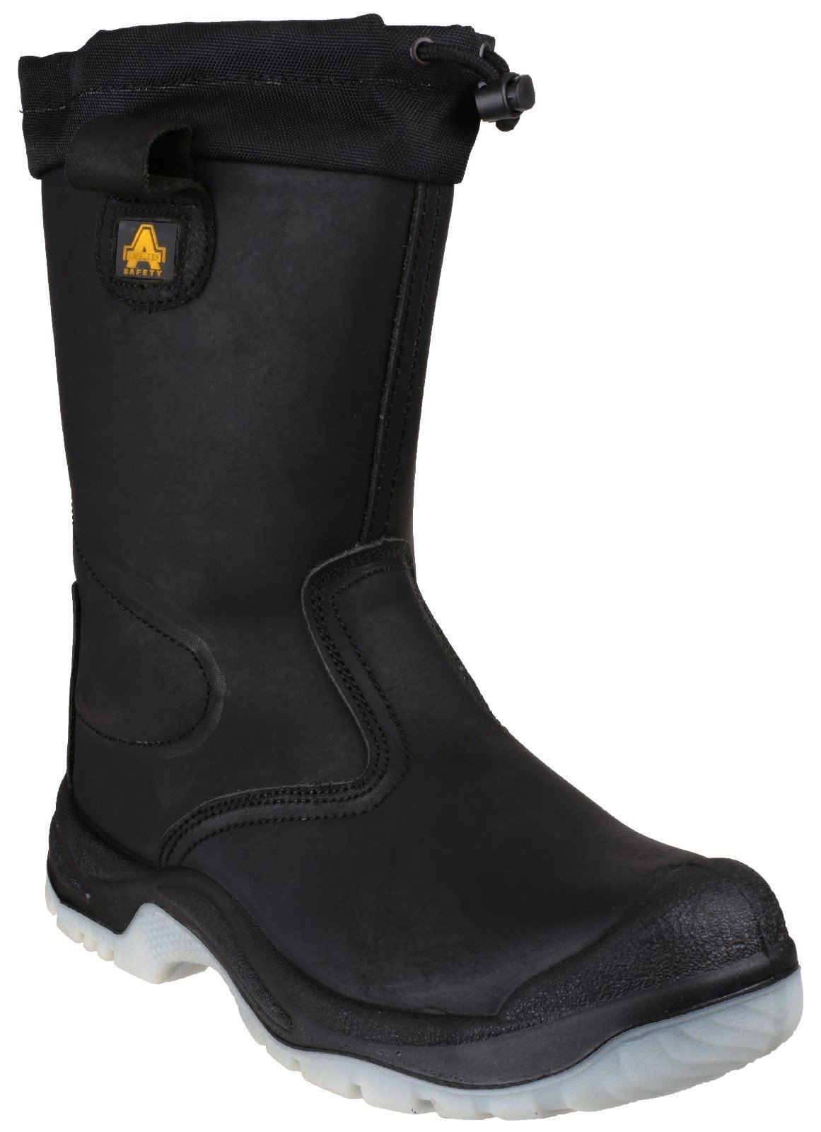 Amblers Unisex Safety Water Resistant Pull On Rigger Boot Black 18283 - Black 4