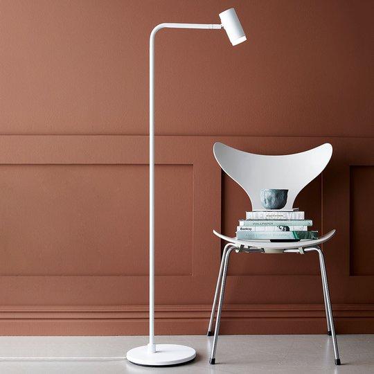 Cato Q -LED-lattiavalo himmentimellä, valkoinen