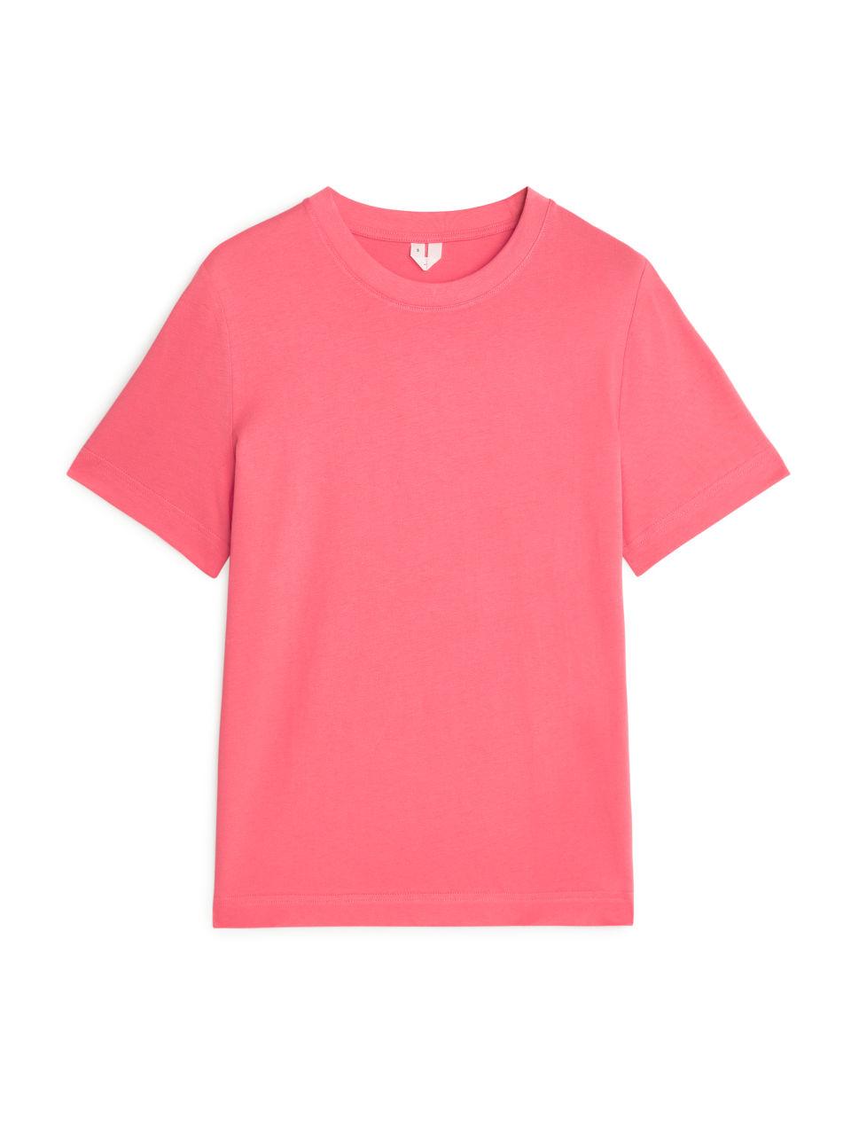 Crew-Neck T-shirt - Pink