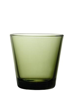 Kartio glas 21 cl mossgrön 2 st