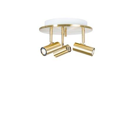 Cato Triospot Messing LED Dimbar