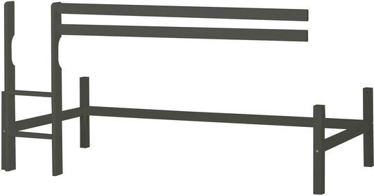 Hoppekids Halvhøy Modul Basic 90x200 cm, Smoked Pearl