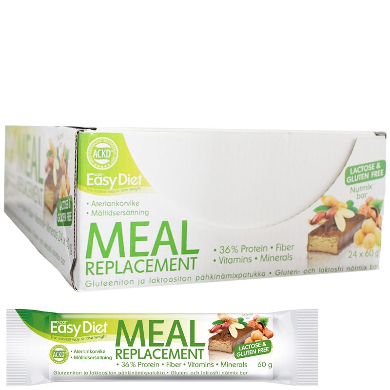 "Hel Låda ""Meal Replacement Nutmix Bar"" 24 x 60g - 57% rabatt"