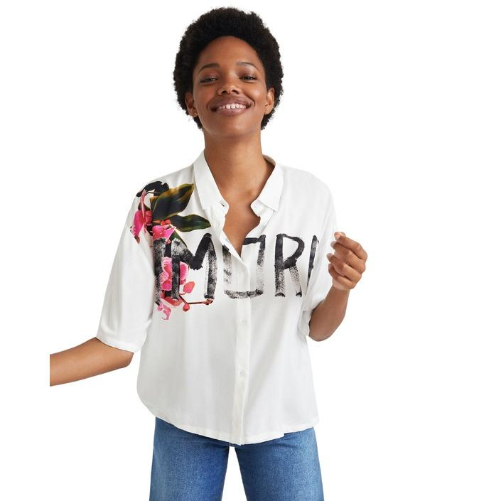 Desigual Women's Shirt White 320074 - white L