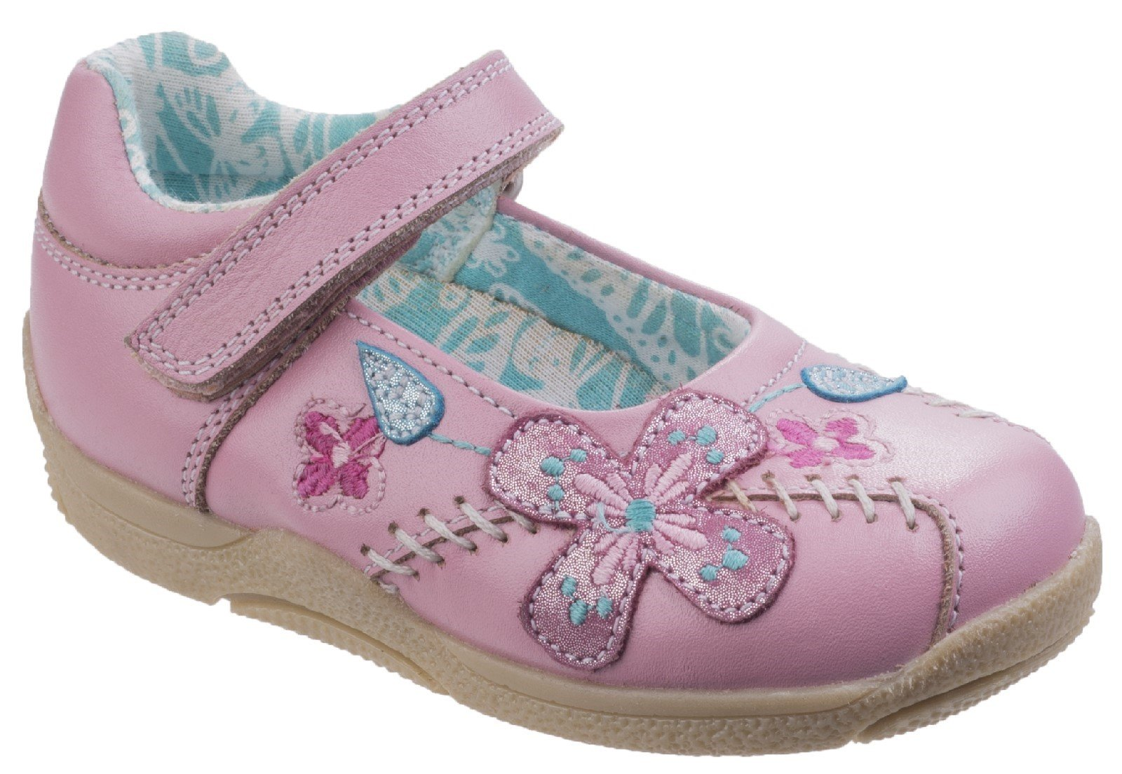 Hush Puppies Women's Millie Touch Fastening Sandal Various Colours 26395 - Pink 4