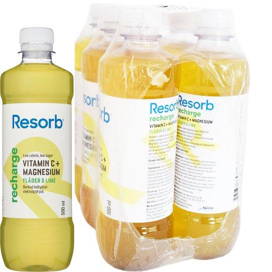 Recharge vätskeersättning Fläder & lime 6-pack - 74% rabatt