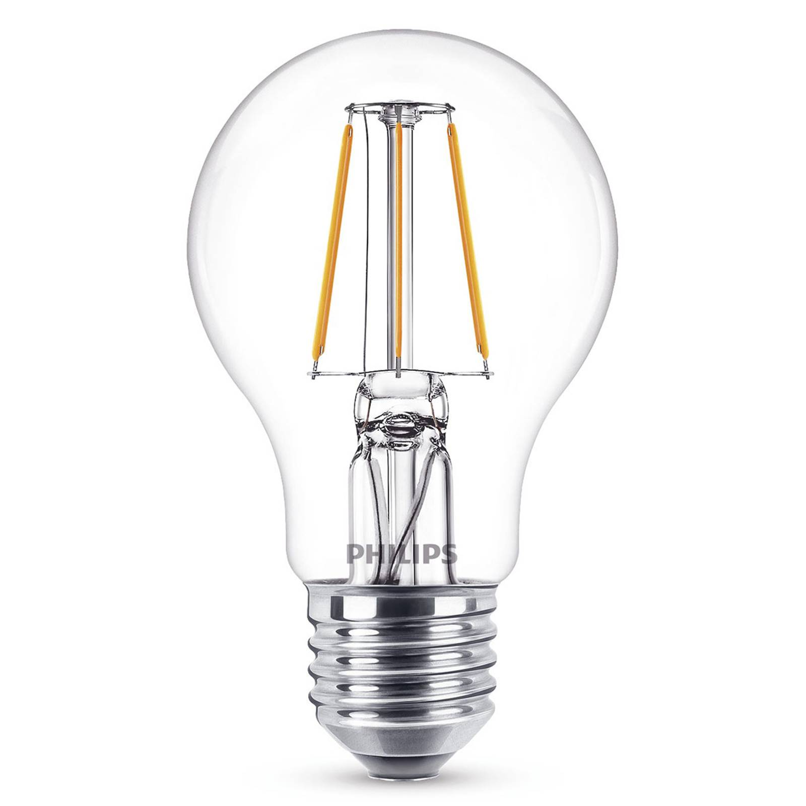 E27 A60 -LED-filamenttilamppu 4 W, 2 700 K, kirkas